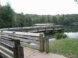 Fishing pier at Lake Powhatan campground