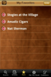 Cigar shops, cigar bars, Cigar Finder screenshot