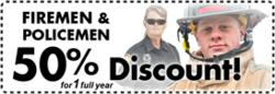 Storage Discounts for Police & Fire Personnel
