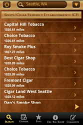 Cigar Finder, cigar app, stogie