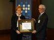 AIPR President Fred Schwartz presents the Raphael Lemkin Genocide Prevention Prize to Prof. Deborah Lipstadt