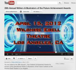 L. Ron Hubbard Awards Ceremony broadcast live on internet for all to watch.