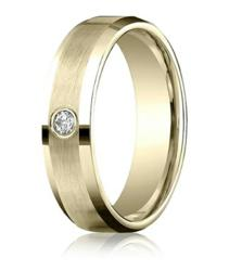 Men's 14K Yellow Gold Diamond Band