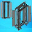 open racks with doors to access cable harnesses