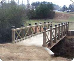 Custom-Designed Timber Pedestrian Bridge
