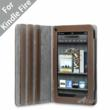 "Acase(TM) Kindle Fire Premium Micro Fiber Leather Case with built-in Stand for Kindle Fire Full Color 7"" Multi-touch Display, Wifi (Brown)"