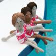 knit, knitted swimmers, knitted dolls, dolls