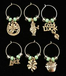 Luck of the Irish Wine Charms