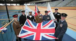 Members of the Armed Forces to raise flags at London 2012