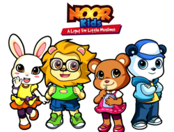 Noor Kids logo and characters