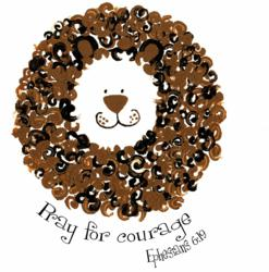 Heavenly Wear Lion Pray for Courage Line
