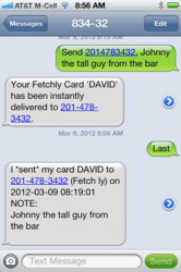 Fetchly Send With Note & Last