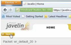Javelin's Easy to Use Web Interface for Report Scheduling