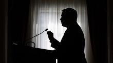 Minister Kenney giving speech