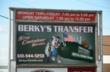 Berky's Transfer entrance sign.