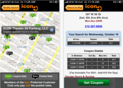 Icon Parking App for the iPhone Screenshot