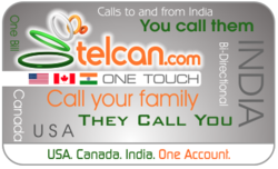 Image of the Telcan Prepaid Calling Card