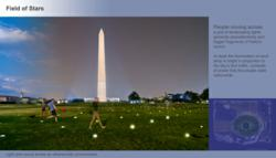 """Artist's rendering of Catherine Peek's """"Field of Stars"""" concept for the National Mall."""