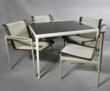 Richard Schultz for Knoll, table, aluminum frame with enamel top