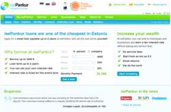 Nordic peer-to-peer lender isePankur.ee home page