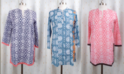 A selection of the Roberta Roller Rabbit tunics available at Local Hem's online boutiques.