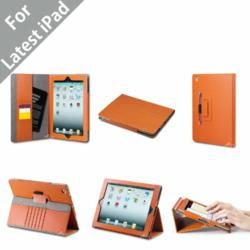 Acase (TM) Premium Micro Fiber Leather Case with built-in Stand for Apple New iPad (iPad 3) and iPad 2