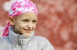 Young girl with cancer