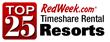Top 25 Timeshare Rental Resorts According to RedWeek.com