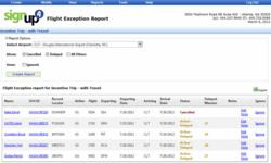 TMS Flight Exception Report