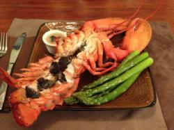 Truffle Recipes: Steamed Lobster with Black Truffle Butter made with Fresh Truffles