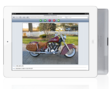Flipping through images hosted by Serv-U on an iPad.