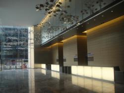 elegant lobby New York City secured with Fastlane Plus optical turnstiles