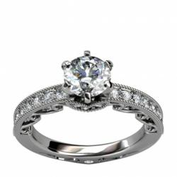 man made diamond simulants, affordable engagement ring