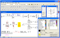 MathMagic Personal v7.0 Editor window