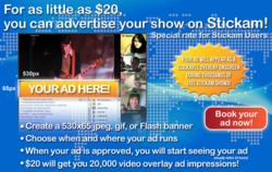 Stickam User Ad