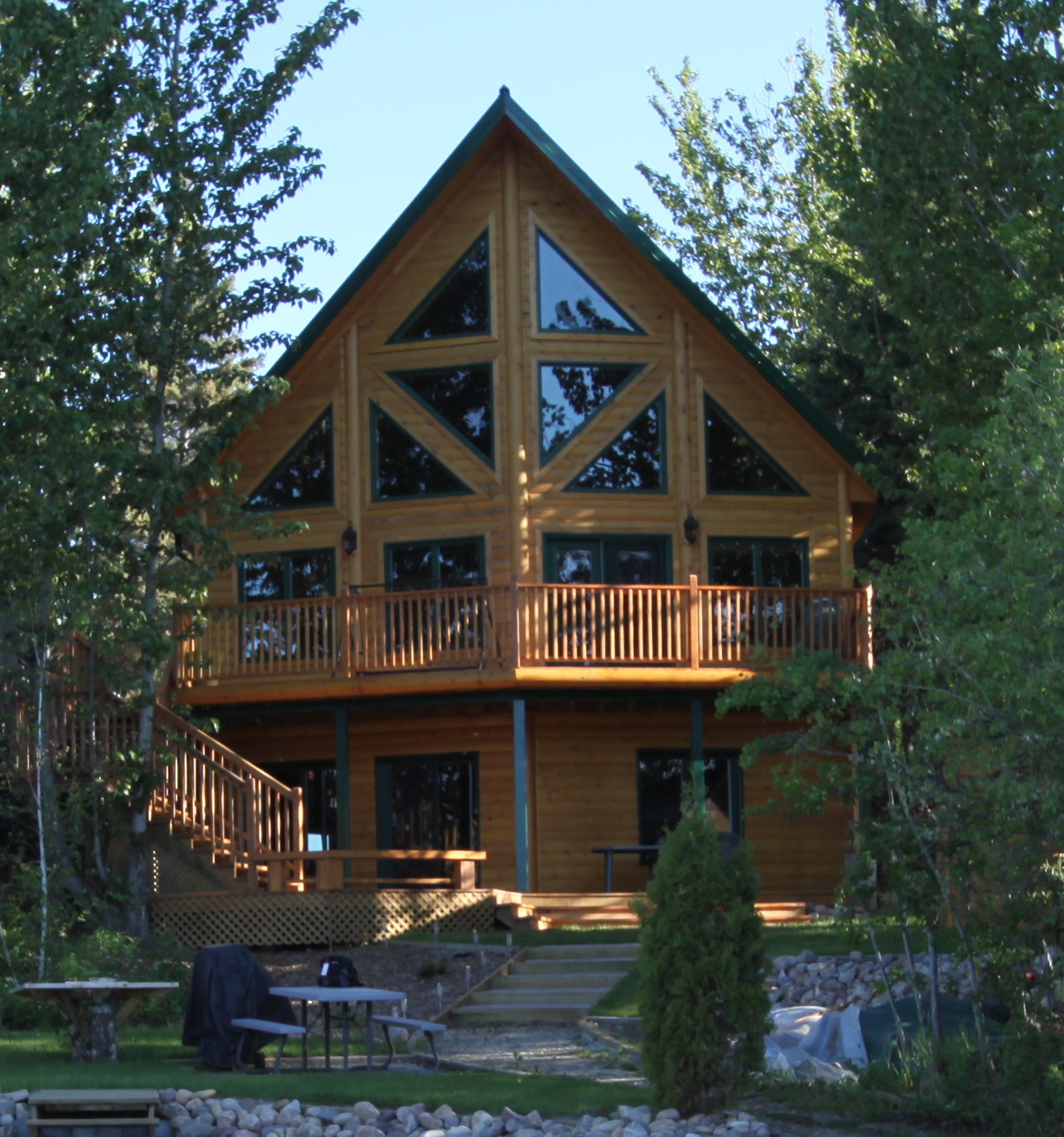 Insulated Log Homes By Timber Block Hits Three Seperate