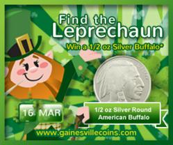 Gainesville Coins St Patrick S Day Promo Spectacular