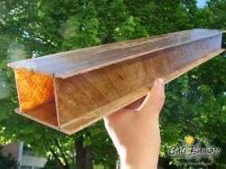 Natural Fiber Beam made with Cali Bamboo matting