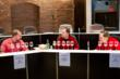 Judges panel in action at 2012 Ultimate Spirits Challenge – Jim Meehan, Doug Frost, James Conley (L to R)