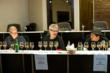 Judges panel in action at 2012 Ultimate Spirits Challenge – Jack Robertiello, Steve Olson, Marcos Tello (L to R)