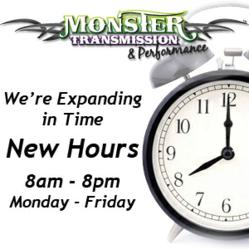 Monster Transmission New Staff Hours