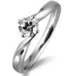 Ribbon Twist Engagement Ring by Diamonds and Rings