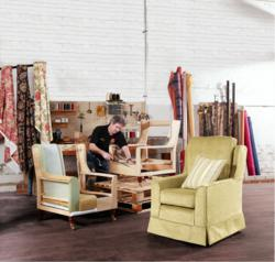 Live Re-upholstery from Plumbs at the Country Living Spring Fair