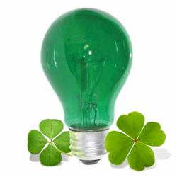 Green St. Patricks Day Bulb