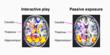 Brain Activity: interactive vs. passive exposure to Re-Mission video game play