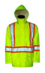 Viking SafetyMaxx 150D Green Waterproof Hi-Viz Jacket