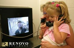 Visitors use Renovo Software's video visitation system to communicate with an inmate at the Weber County Jail in Utah.