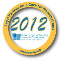 Legal Partners for a Cure for Mesothelioma 2012 Logo