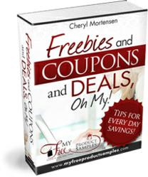 Free samples, coupons, and money savings eBook.
