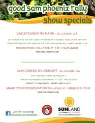 Sunland RV Resorts offers show specials to Good Sam Rally attendees